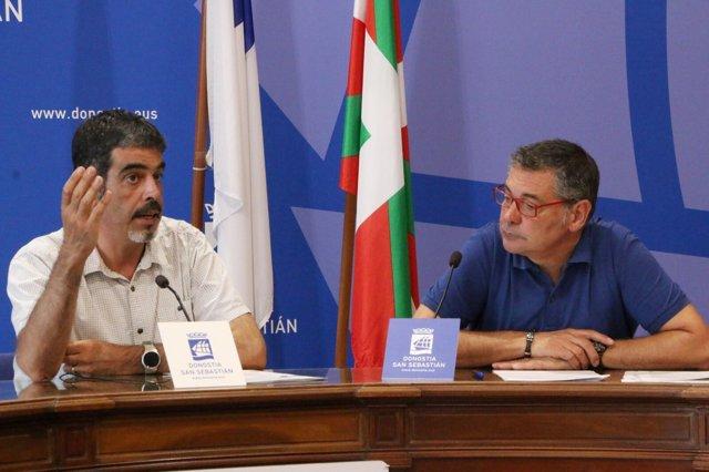 El alcalde, Eneko Goia, y el edil Alfonso Gurpegui