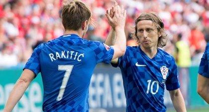 Modric y Rakitic lideran la lista de Croacia para los encuentros frente a Portugal y España