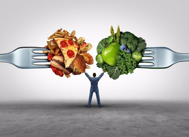 Alimentos buenos y malos, dieta