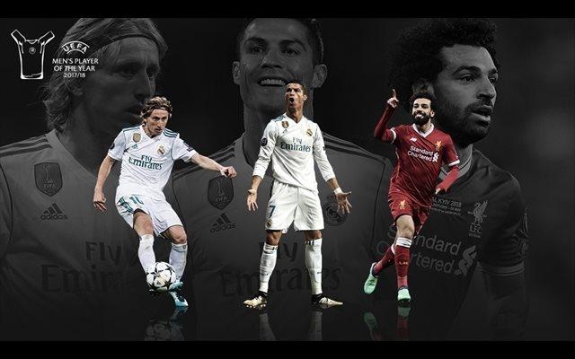 Modric, Cristiano y Salah, candidatos a Jugador del Año de la UEFA