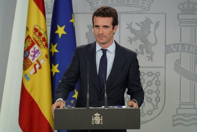 Pablo Casado en Moncloa