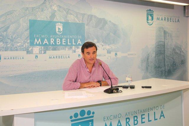 Félix Romero en rueda de prensa en Marbella