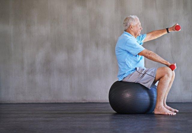 Señor ejercicio, mayor, anciano