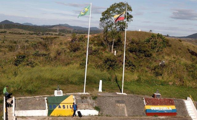 Paso fronterizo de Pacaraima, en el estado brasileño de Roraima