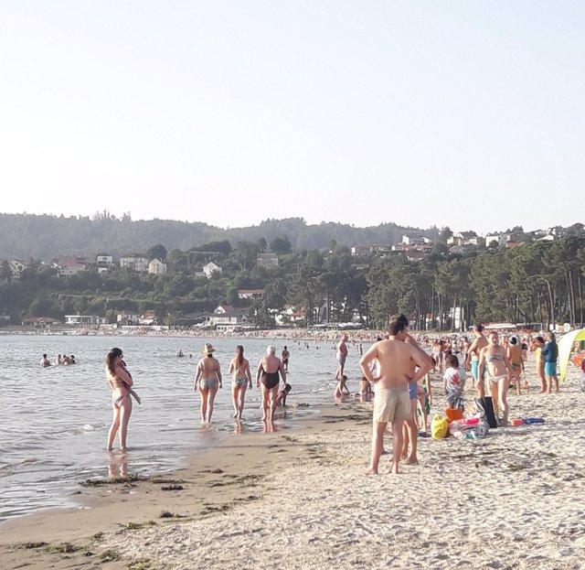 Bañistas, playa, sol, calor, temperaturas altas