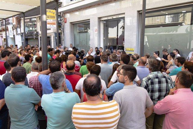 Concentración de regantes del Condado en Huelva.
