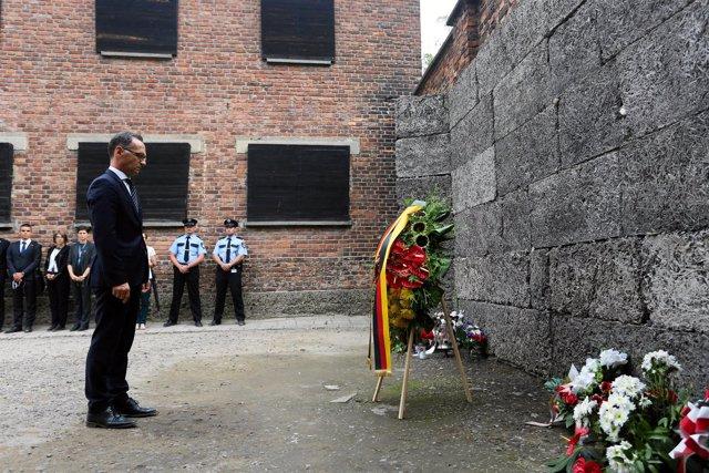 Heiko Maas visita Auschwitz