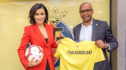 La 'influencer' rusa Tina Kandelaki, protagonista de una campaña de LaLiga y en el Villarreal-Real Sociedad