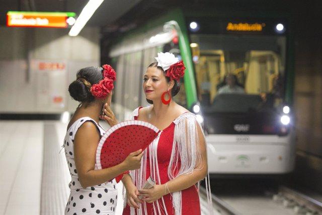Metro de Málaga en Feria