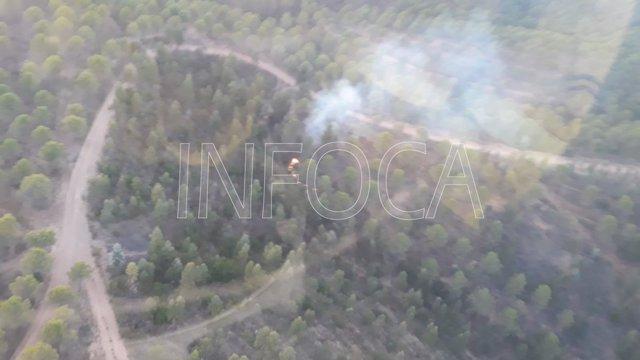 Declarado un incendio forestal en un paraje en Zalamea La Real