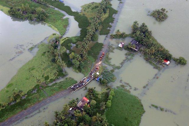 Inundaciones en Kerala, India