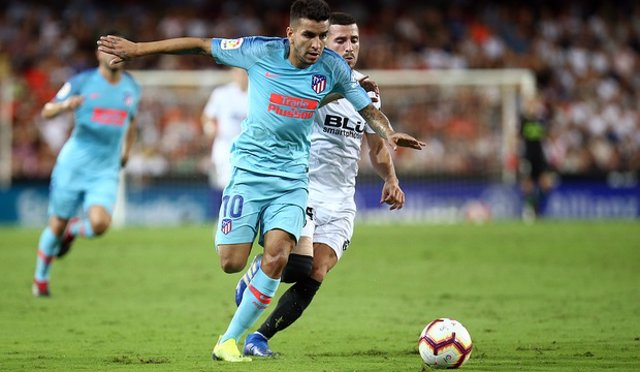 Correa, autor del gol del Atlético en Mestalla