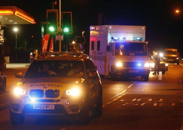 Policía y ambulancia en Londres