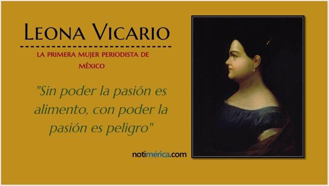 Leona Vicario, la primera mujer periodista de México