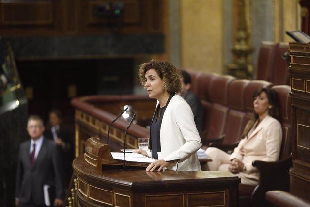 Dolors Montserrat interviene en el pleno sobre los Presupuestos