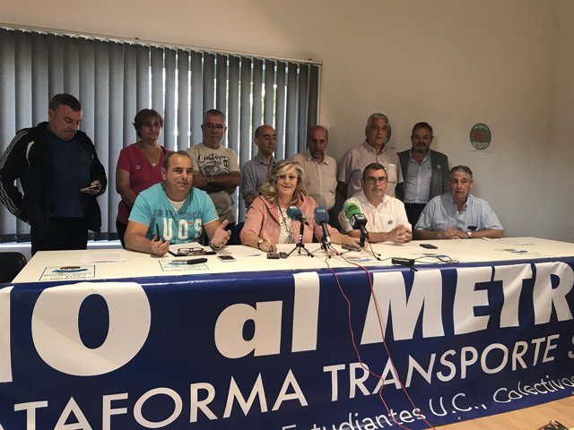Rueda de prensa de la Plataforma Transporte Santander