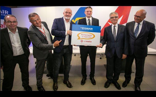 Ryanair comercializará vuelos de Air Malta en su página web