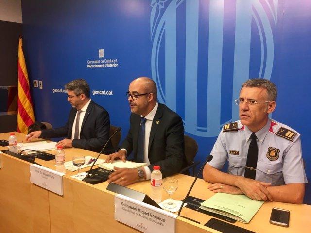 Andreu Martínez, Miquel Buch y Miquel Esquius