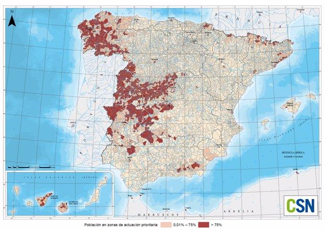 Las zonas de España más afectadas por el gas radón