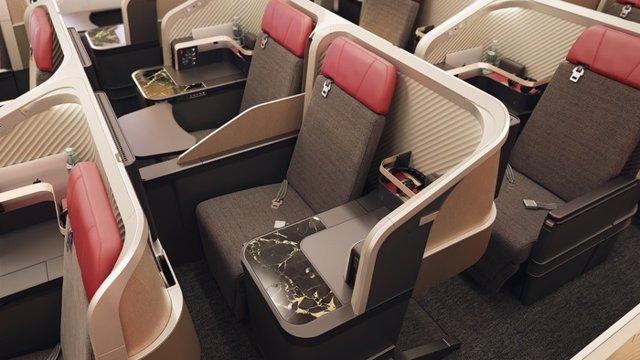 Interior de las nuevas cabinas 'premium business' de LATAM Airlines