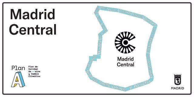 Comienza la instalación de 61 señales verticales en accesos a Madrid Central