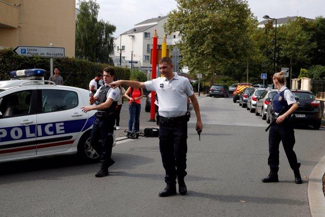 Tuit de la policía francesa