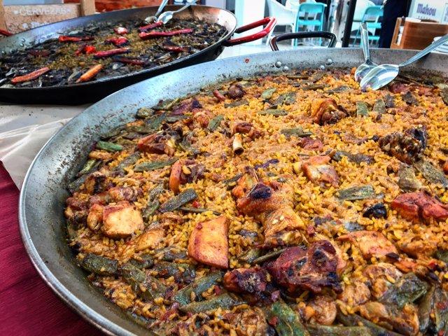 Paella en el Mercat Colón de Valencia