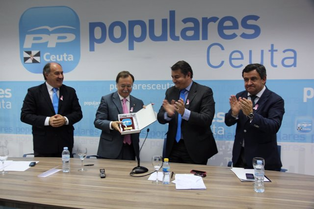El PP de Cádiz, en Ceuta, con Juan Vivas