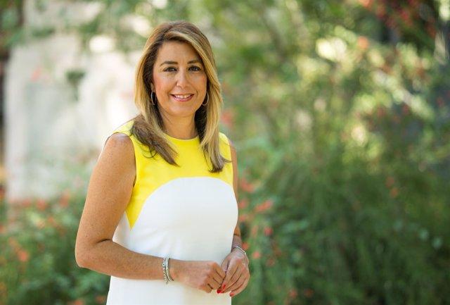 Susana Díaz durante la entrevista con Europa Press