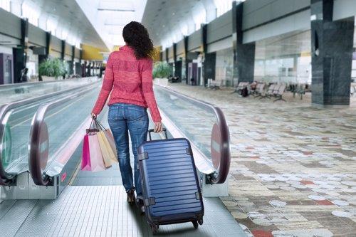 Compras en un aeropuerto