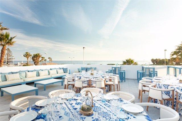 Vistas desde la terraza exterior de Mirador Playa Granada en Motril