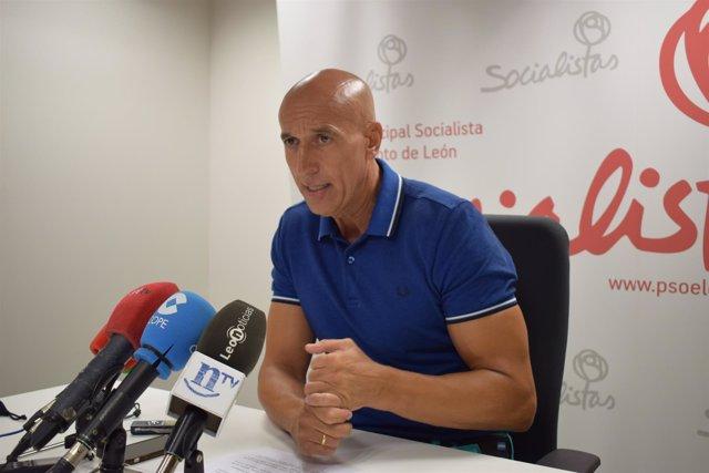 José Antonio Diez, portavoz del PSOE.
