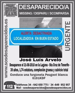 Localizan a José Luis Arvelo
