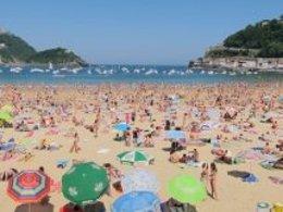 Playa de La Concha, San Sebastián (Foto archivo)