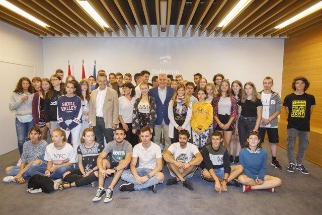 Recepción jóvenes Inter Europa con Ceniceros