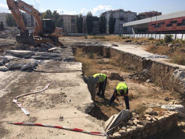 Trabajos arqueológicos en Mondragones