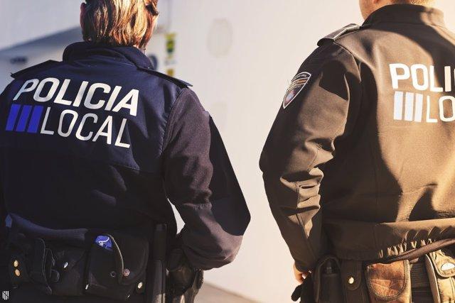 Agentes de la policía local, recurso, imagen de archivo