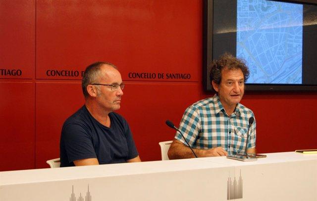 Xan Duro y Jorge Duarte en rueda de prensa