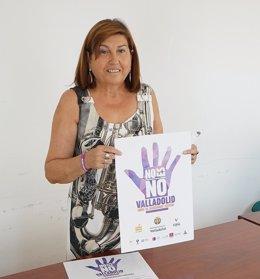 La concejal de Educación, Infancia e Igualdad de Valladolid. 23-8-2018