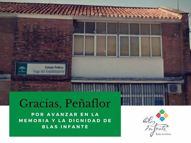 Cambio de nombre del colegio 'Pedro Parias' de Peñaflor