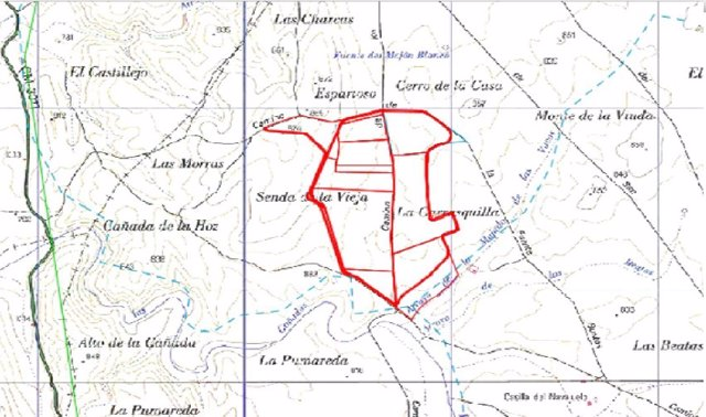 Mapa vertedero Almonacid