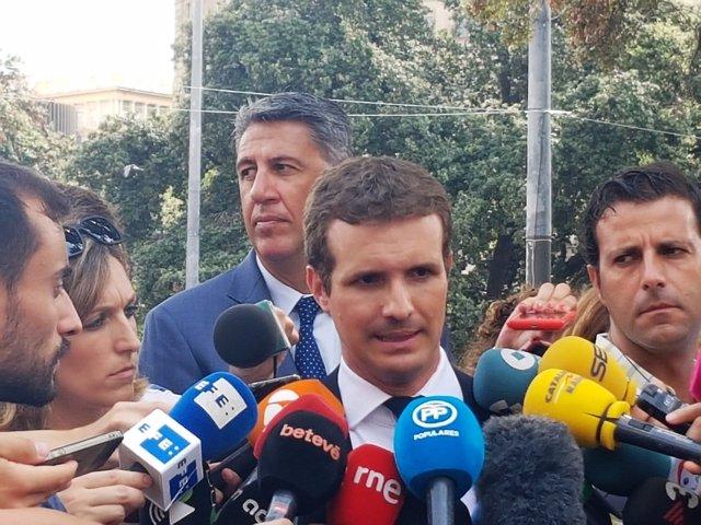 Xavier García Albiol, Pablo Casado (PP)