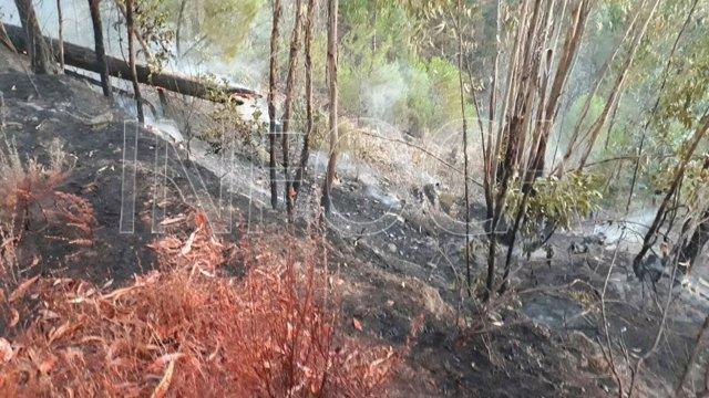 Incendio en el paraje del Pantano de Aracena