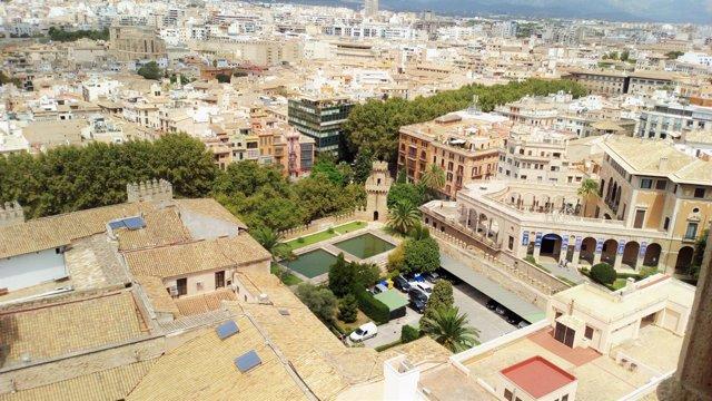 Vista de Palma desde la Catedral