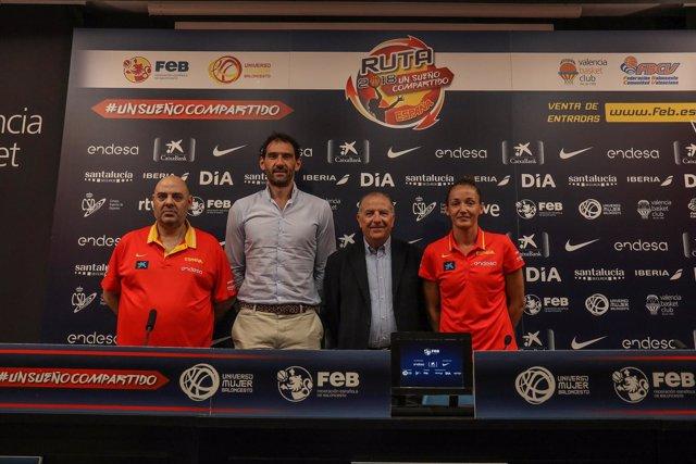 Garbajosa, Mondelo, Laia Palau y Paco Raga en presentación Torneo de Valencia