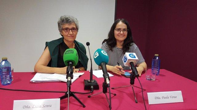 Lidia Senra y Paula Verao en rueda de prensa