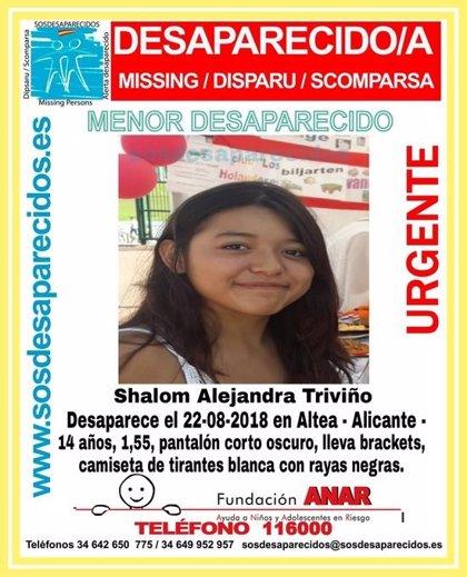 Buscan a una chica de 14 años desaparecida en Altea