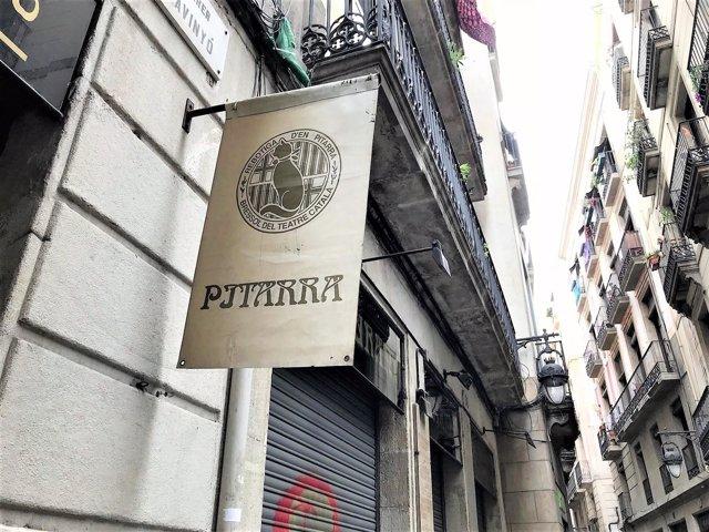 Restaurant Pitarra en la calle Avinyó de Barcelona