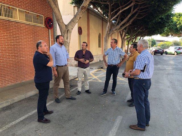 El concejal José Guillén visita la nueva zona verde