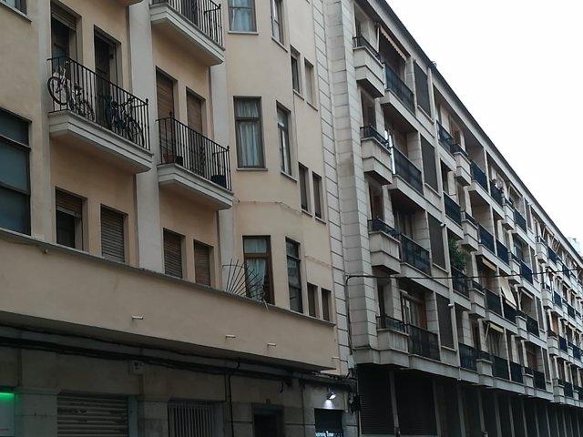 Bloques de pisos en imagen de archivo